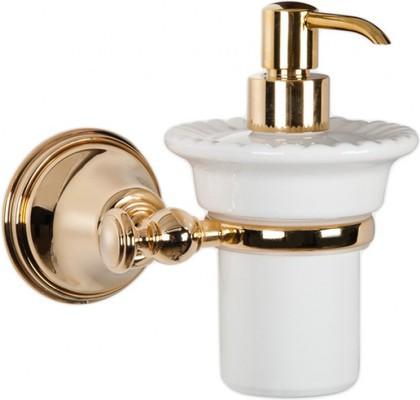 Дозатор для жидкого мыла керамический, золото TW Harmony TWHA108oro