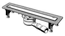 Душевой лоток Viega Advantix Basic Set, 750мм, с сифоном, ножками, решётка под плитку ER13, нерж. сталь 753207