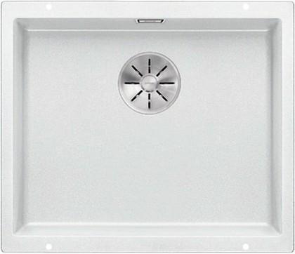 Кухонная мойка Blanco Subline 500-U, без крыла, отводная арматура, гранит, белый 523436