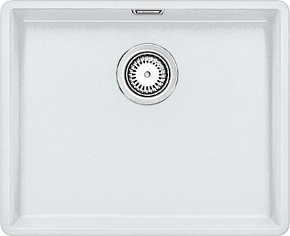 Кухонная мойка без крыла, с клапаном-автоматом, гранит, белый Blanco Subline 500-F 519812
