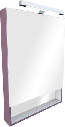 Зеркальный шкаф однодверный с полочкой и светильником 80х85см, виноград Roca The Gap zru9302753