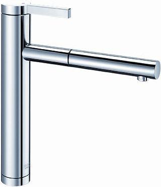 Смеситель кухонный однорычажный с выдвижным изливом, нержавеющая сталь зеркальной полировки Blanco LINEE-S 517592