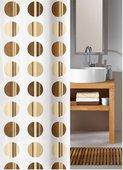 Шторка для ванной Kleine Wolke Point Toffee beige, 180x200см, полиэстер, бежевая 5104224305
