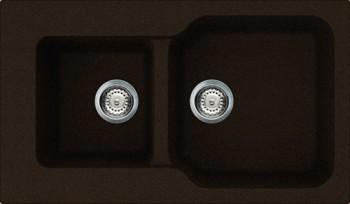 Кухонная мойка оборачиваемая без крыла, гранит, тёмный шоколад Omoikiri Maru 86-2-DC 4993288