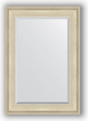 Зеркало 68x98см с фацетом 30мм в багетной раме травлёное серебро Evoform BY 1276