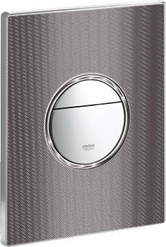 Кнопка смыва для инсталляции для унитаза, хром / чёрная графика Grohe NOVA Cosmopolitan 38847XG0