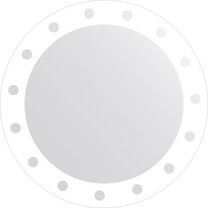 Зеркало для ванной с орнаментом диаметр 60см FBS CZ 0714