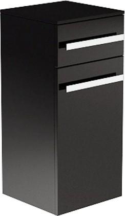 Мебель для ванной LUSSO Шкаф средний подвесной, ширина 35 см, ящик и корзина, дверца, петли справа, артикул LS401