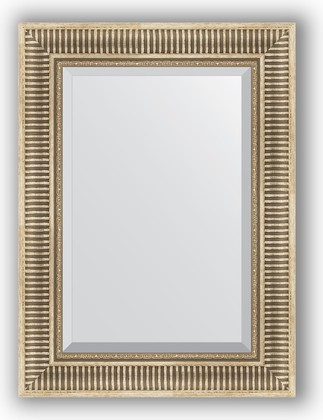 Зеркало 57x77см с фацетом 25мм в багетной раме серебряный акведук Evoform BY 1228
