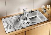 Кухонная мойка оборачиваемая с крылом, нержавеющая сталь матовой полировки Blanco Tipo 6 S 511929