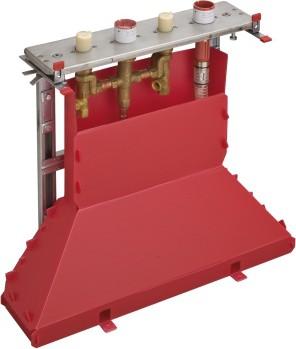 Скрытая часть смесителя для ванны на 4 отверстия, монтаж на плитку Hansgrohe 14445180
