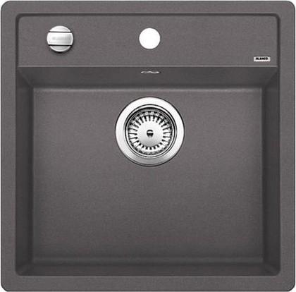 Кухонная мойка без крыла, с клапаном-автоматом, гранит, тёмная скала Blanco Dalago 5-F 518849
