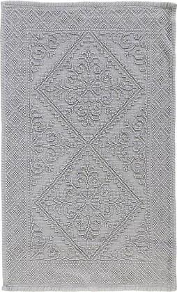 Коврик для ванной комнаты хлопок 50x80см серый Spirella Moa 4007249