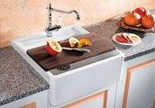 Кухонная мойка на одно отверстие без крыла, керамика, белый глянцевый Blanco Panor 60 514486