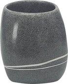 Стакан для зубных щёток Kleine Wolke Stones Dunkelgrau полирезин, серый 5080912852