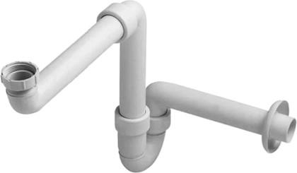 Сифон экономичный для раковины с нижней тумбой, белый Duravit 50730000