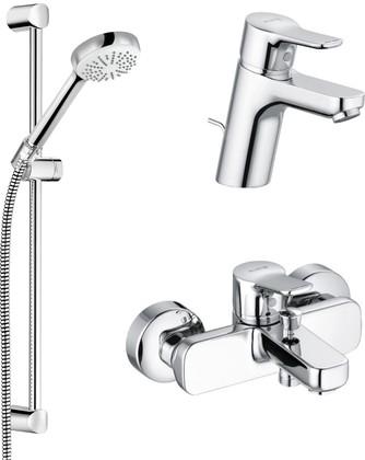 Набор смесителей для ваннны Kludi Pure&Easy 3в1, хром 376850565