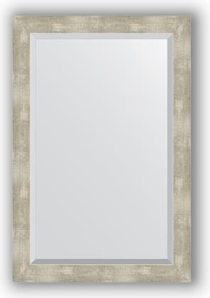 Зеркало 61x91см с фацетом 30мм в багетной раме алюминий Evoform BY 1179