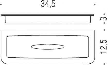 Запасная стеклянная колба для мыльницы Colombo LULU B6253