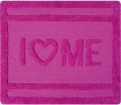 Коврик для ванной комнаты хлопковый 55x65см розовый Spirella Ibiza Love Love 1017822