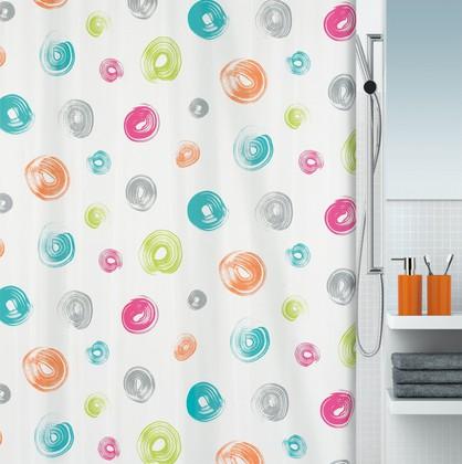 Штора для ванной 180x200см текстильная мультиколор Spirella BRUSH 1016273