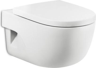 Керамический подвесной унитаз с горизонтальным выпуском, белый Roca MERIDIAN 346247000
