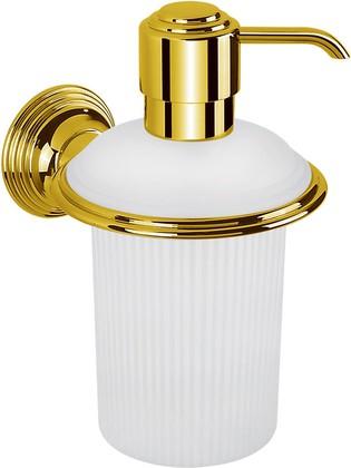 Дозатор жидкого мыла подвесной, золото Colombo Hermitage B9335.HPS