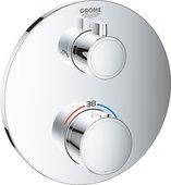 Термостат для душа Grohe Grohtherm встраиваемый, с переключателем на 2 положения верхний душ / ручной душ, круглая розетка, хром 24076000