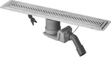 Душевой лоток 800мм с дизайн-решеткой из матовой нержавеющей стали Visign ER1 Viega Advantix 619060