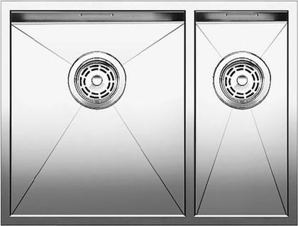 Кухонная мойка основная чаша слева, без крыла, нержавеющая сталь зеркальной полировки Blanco Zerox 340/180-IF 517252