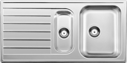 Кухонная мойка оборачиваемая с крылом, нержавеющая сталь полированная Blanco Livit 6 S 514796