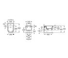 Керамическое подвесное биде 370 х 560 мм, белое Roca INSPIRA ROUND 357525000