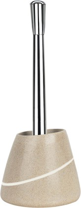 Ёрш для туалета с подставкой песочного цвета Spirella Etna Stone 1014349