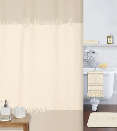 Штора для ванной комнаты 180x200см текстильная бежевая Spirella AUTHENTIQUE 4006083