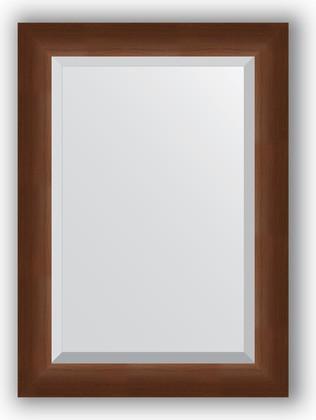 Зеркало 52x72см с фацетом 25мм в багетной раме орех Evoform BY 1127