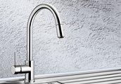Смеситель однорычажный для кухонной мойки с высоким выдвижным изливом, хром Blanco SPIRIT-S 516526