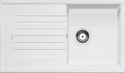 Кухонная мойка оборачиваемая с крылом, гранит, белый Blanco Zia 5 S 520515