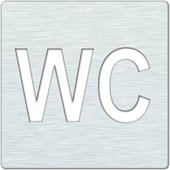"""Значок """"WC"""" 120х120х2мм, матовый Bemeta 111022085"""
