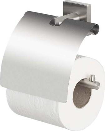 Держатель для туалетной бумаги с крышкой стальной Spirella Nyo 1015565