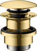 Донный клапан для раковины Hansgrohe Push-Open, полированное золото 50100990