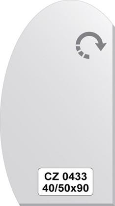 Зеркало для ванной 40/50x90см с фацетом 10мм FBS CZ 0433