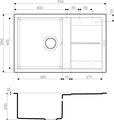 Кухонная мойка Omoikiri Sumi 79-CH с крылом, tetogranit, шампань 4993669