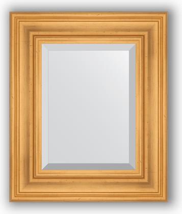 Зеркало с фацетом в багетной раме 49x59см травленое золото 99мм Evoform BY 3366