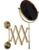 Зеркало косметическое настенное 2-х стороннее, золото TW Bristol TWBR024oro