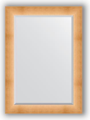 Зеркало 76x106см с фацетом 30мм в багетной раме травлёное золото Evoform BY 1201