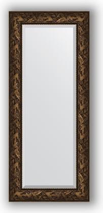 Зеркало с фацетом в багетной раме 59x139см византия бронза 99мм Evoform BY 3521