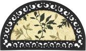Коврик придверный 45х75см промежуточный зелёные листья, кокос / резина Golze COCO RELIEF 547-30-13