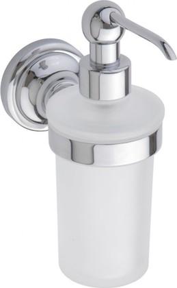 Дозатор жидкого мыла настенный, хром-матовое стекло, Bemeta 144309012