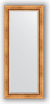 Зеркало с фацетом в багетной раме 66x156см римское золото 88мм Evoform BY 3568