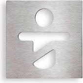 Табличка на дверь Bemeta Hotel Помещение для переодевания детей, хром 111022062